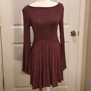 Women's Sweet Claire shirt dress in burgundy